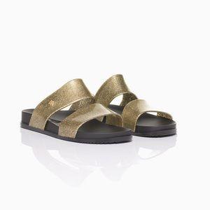 Melissa Cosmic 19 Double Strap Gold Sandal
